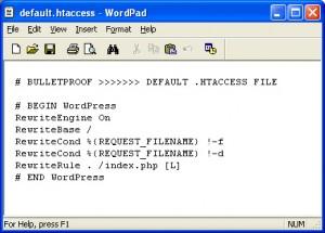 BulletProof Default htaccess WordPress Root Installation