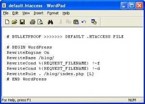 BulletProof Default htaccess WordPress Subfolder Installation