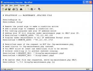 BulletProof Maintenance htaccess WordPress Subfolder Installation