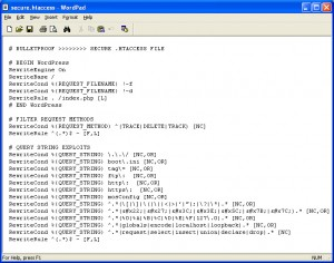 BulletProof Secure htaccess WordPress Root Installation