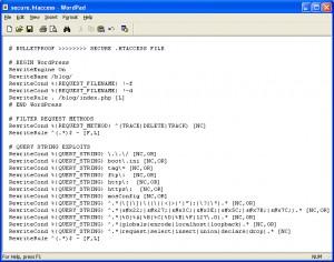 BulletProof Secure htaccess WordPress Subfolder Installation