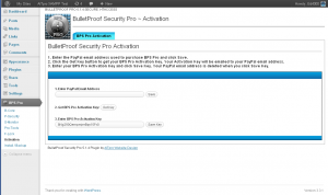BulletProof Security Pro ~ Activation