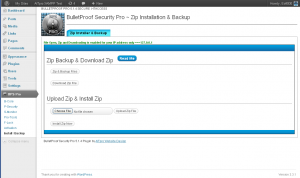 BPS Pro Zip Installation, Zip Backup and Download